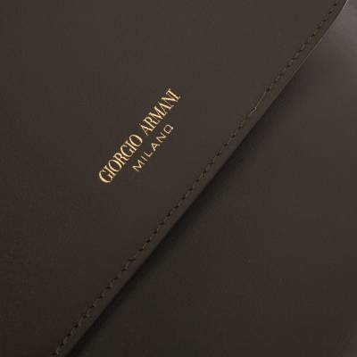 Giorgio Armani Khaki Green Wristlet Clutch 294205 - 4