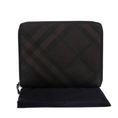 Burberry Brown Smoked Check Coated Canvas and Leather Tablet iPad 2 Case 294203 - 7