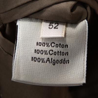 Hermes Dark Khaki Cotton Light Weight Two Buttoned Jacket XL 294202 - 5