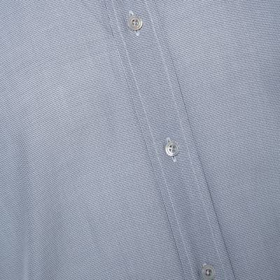 Tom Ford Grey Textured Cotton Button Front Long Sleeve Shirt M 294200 - 3