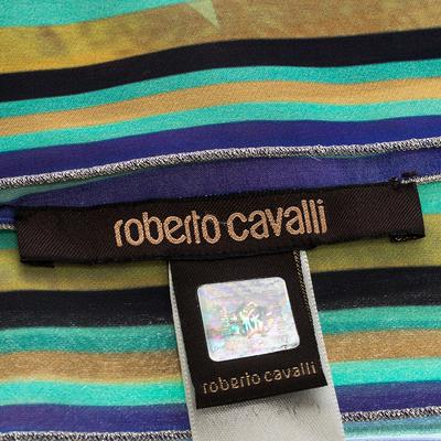 Roberto Cavalli Multicolor Floral Print Silk Scarf 292622 - 5