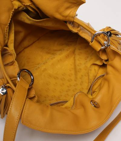 Loewe Yellow Leather Flamenco Knot Bag 293812 - 2