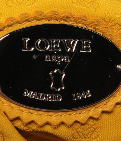 Loewe Yellow Leather Flamenco Knot Bag 293812 - 3