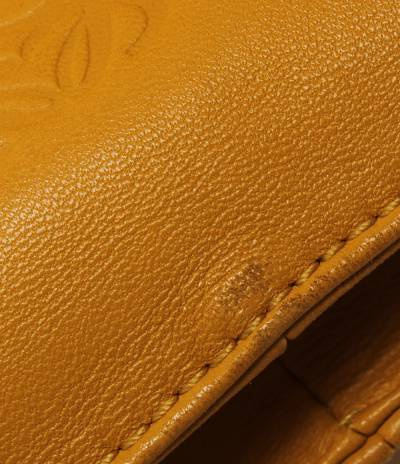 Loewe Yellow Leather Flamenco Knot Bag 293812 - 4