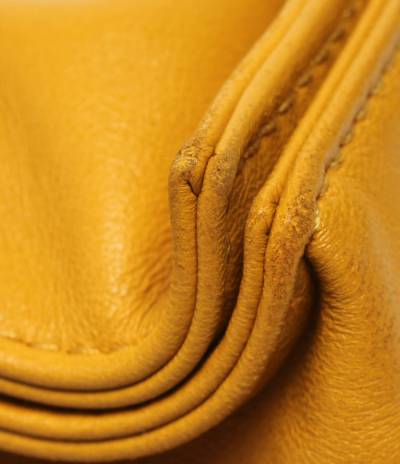 Loewe Yellow Leather Flamenco Knot Bag 293812 - 7
