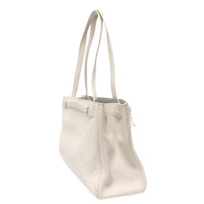 Hermes White Chevre de Coromandel Cabana Tote Bag 293810 - 1