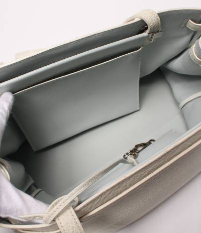 Hermes White Chevre de Coromandel Cabana Tote Bag 293810 - 2