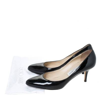 Jimmy Choo Black Leather Bridget Round Toe Pumps Size 38.5 294669 - 7