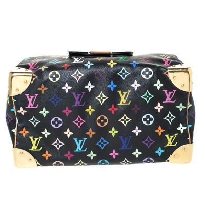 Louis Vuitton Black Multicolore Monogram Canvas Speedy 30 Bag 294668 - 5