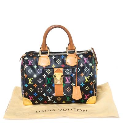 Louis Vuitton Black Multicolore Monogram Canvas Speedy 30 Bag 294668 - 9