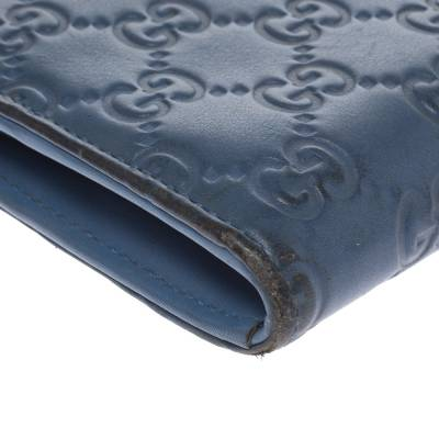 Gucci Sky Blue Guccissima Leather Zip Around Wallet 294247 - 9