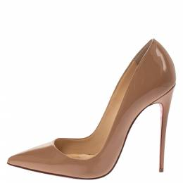 Christian Louboutin Beige Patent Leather So Kate Pumps Size 38.5 294368