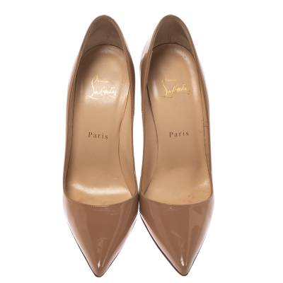 Christian Louboutin Beige Patent Leather So Kate Pumps Size 38.5 294368 - 2