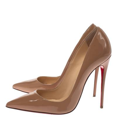 Christian Louboutin Beige Patent Leather So Kate Pumps Size 38.5 294368 - 3