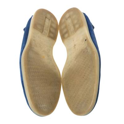 Loro Piana Blue Suede Slip On Loafers Size 45 293791 - 5