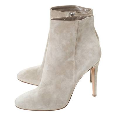 Gianvito Rossi Grey Suede Round Toe Ankle Boots Size 40.5 293792 - 3