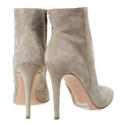 Gianvito Rossi Grey Suede Round Toe Ankle Boots Size 40.5 293792 - 4