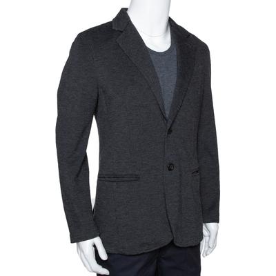 Armani Collezioni Grey Twill Two Buttoned Jacket M 294278 - 1