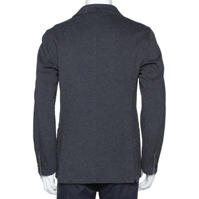 Armani Collezioni Grey Twill Two Buttoned Jacket M 294278 - 2