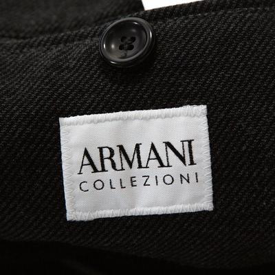 Armani Collezioni Grey Twill Two Buttoned Jacket M 294278 - 4