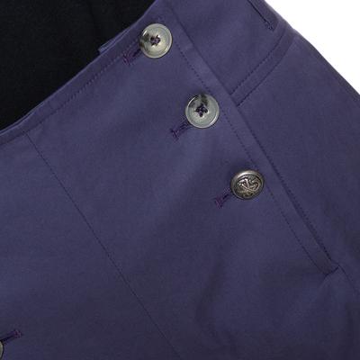 Kenzo Purple Cotton Wide Leg Trousers M 294617 - 3