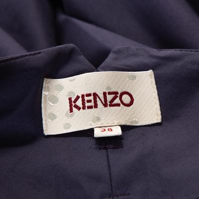 Kenzo Purple Cotton Wide Leg Trousers M 294617 - 4