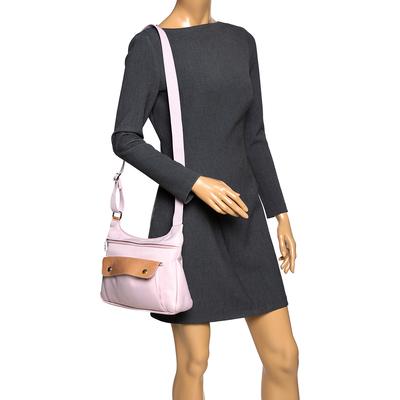 Longchamp Pink Nylon and Patent Leather Planetes Messenger Bag 294344 - 1