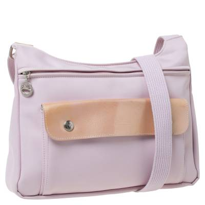 Longchamp Pink Nylon and Patent Leather Planetes Messenger Bag 294344 - 2