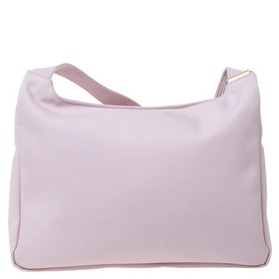Longchamp Pink Nylon and Patent Leather Planetes Messenger Bag 294344 - 3