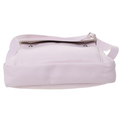 Longchamp Pink Nylon and Patent Leather Planetes Messenger Bag 294344 - 5
