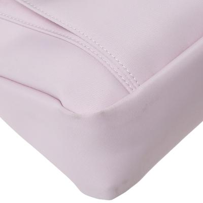 Longchamp Pink Nylon and Patent Leather Planetes Messenger Bag 294344 - 9