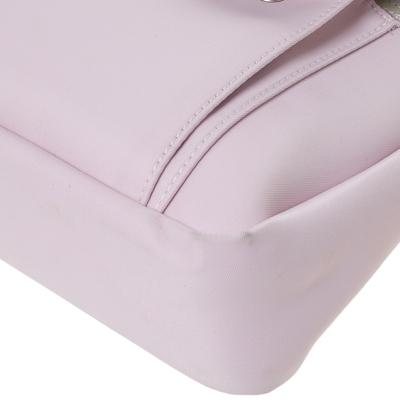 Longchamp Pink Nylon and Patent Leather Planetes Messenger Bag 294344 - 10