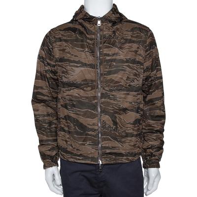 Moncler Olive Green Nylon Reversible Gobert Jacket M 294304 - 1