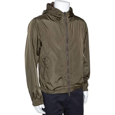 Moncler Olive Green Nylon Reversible Gobert Jacket M 294304 - 2