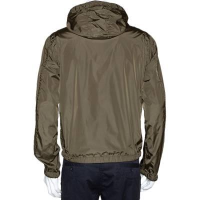 Moncler Olive Green Nylon Reversible Gobert Jacket M 294304 - 3