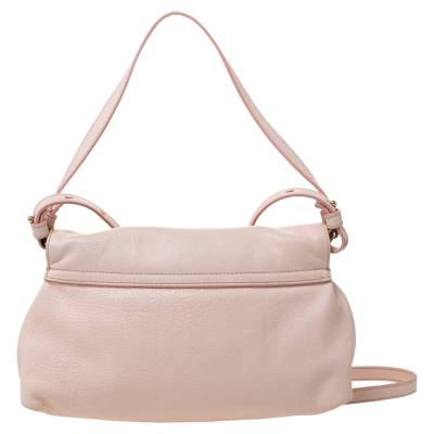 Chloe Light Pink Leather Lily Bow Crossbody Bag 294225 - 3