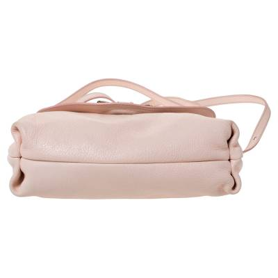 Chloe Light Pink Leather Lily Bow Crossbody Bag 294225 - 5