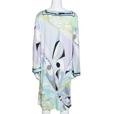 Emilio Pucci Multicolor Printed Jersey Shift Dress XL 292492 - 2