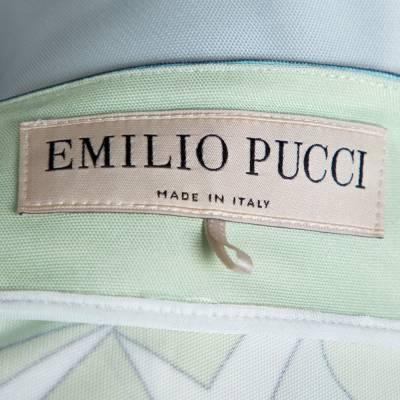 Emilio Pucci Multicolor Printed Jersey Shift Dress XL 292492 - 3