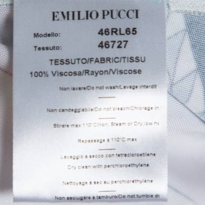 Emilio Pucci Multicolor Printed Jersey Shift Dress XL 292492 - 5