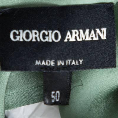 Giorgio Armani Pale Green Silk Draped Sleeveless Blouse XL 292494 - 3