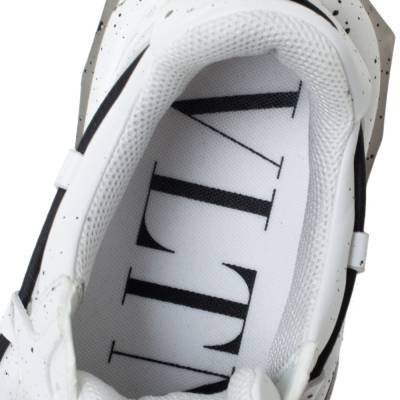 Valentino White/Black Paint Splat Leather Bounce Low-Top Sneakers Size 42 293781 - 6