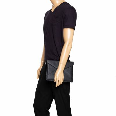 Dolce&Gabbana Black Leather iPad Envelope Case 293780 - 1