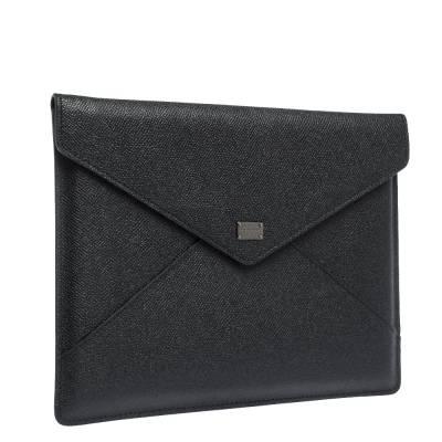 Dolce&Gabbana Black Leather iPad Envelope Case 293780 - 2