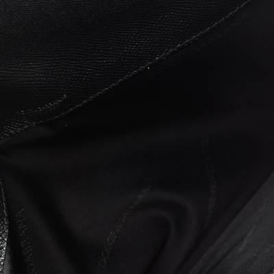 Dolce&Gabbana Black Leather iPad Envelope Case 293780 - 6