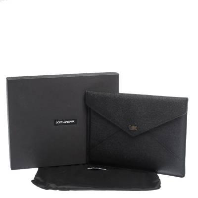 Dolce&Gabbana Black Leather iPad Envelope Case 293780 - 8