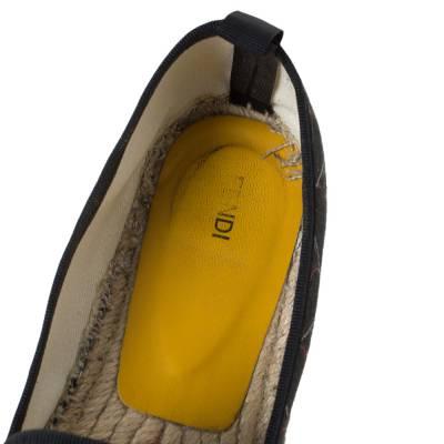 Fendi Multicolor Printed Canvas and Leather Cap Toe Flat Espadrilles Size 38.5 294465 - 6