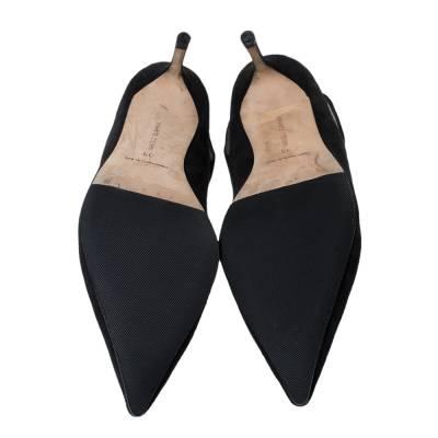 Manolo Blahnik Black Suede Cut Out Detail Pointed Toe Pumps Size 39 294462 - 5