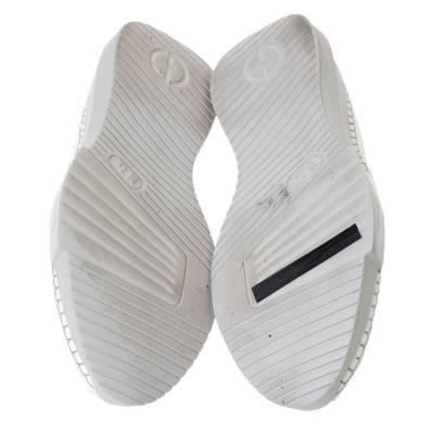 Giorgio Armani White Canvas Platform Slip On Loafers Size 41 294469 - 5
