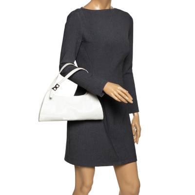 Gucci White Leather Shoulder Bag 293759 - 1